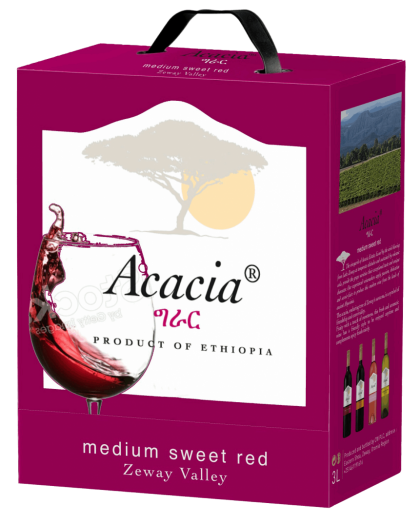 Acacia medium sweet red wine 3l